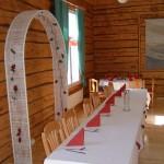 Morsiusparin pöytä